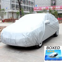 Wholesale Case Cover For Car Sun Cover Folding Silver Cloth Multi Size Breathable Uv Protection Car Cover Waterproof Shield Car Covers