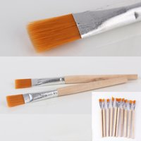 Cheap 12pcs lot Portable Brush Cleaner Wood Handle Paintbrush Computer Mainframe Cleaning Widget OS407