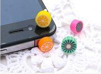 Wholesale Cute Fruit mm Earphone Ear Cap Dock Dust Plug For iPhone S arz99