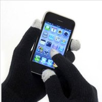 Wholesale T touch screen capacitive touch screen gloves male and female couple warm winter wool gloves