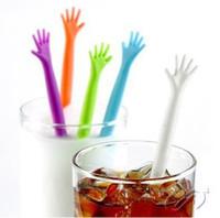 Wholesale Creative HELP ME coffee stirrer stirring rod juices spoon TOP60