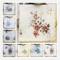 ladies handkerchiefs - Cotton Handkerchief Cutter Ladies Girls Handkerchief Craft Vintage Hanky Floral Wedding Party Handkerchief