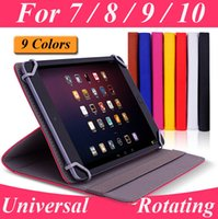 Cheap Universal 360 Degree Rotating PU Leather Stand Case For 7 8 9 10 inch Tablet PC MID iPad Samsung Galaxy Kindle Fire Google Nexus ASUS acer