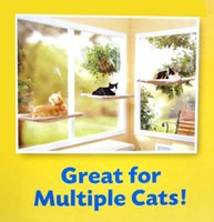 Wholesale 50pcs Hot selling New Window Mount Cat Bed Pet Hammock Sunny Seat Pet Beds With Color Box Package