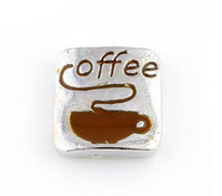 best food gifts - 20PCS Coffee Alloy Floating Locket Charms Fit For DIY Magnetic Glass Living Memory Locket Best Gift