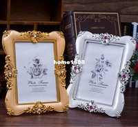 beautiful desktop pictures - 7 Inch Vintage Retro Acrylic Photo Frame Beautiful Gold Silver Desktop Picture Frame for Home Decor Wedding