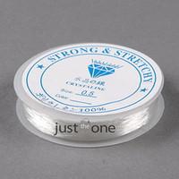 achat en gros de fil de bijoux en plastique-New Stretchy Cord Crystal Fort Rope Effacer Résine Plastique Chaîne Fil de perle pour les bijoux Perles bricolage Cordes