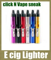 Wholesale click N Vape sneak A vape sneak smoking metal pipes Vaporizer smoking metal for dry herb Wind Proof Torch Lighter FJ120