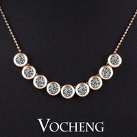 Wholesale Necklace Imitation Gemstone jewelry Multicolor Bunch Silver k Gold plated Rhinestone Vn Vocheng Jewelry