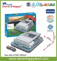 Wholesale 2014 New clever happy D Puzzle Model Arena Corinthians Stadium Estadio do Pacaembu Paulista Sao Paulo
