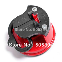 Wholesale steel Knife Sharpener with suction pad Scissors Grinder Secure Suction Chef Pad Kitchen Sharpening Tool