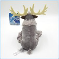 Wholesale Christmas Gift Disney Characters in Frozen Sven Child Doll Fuzz Stuffed Cotton Toy Short Plush Toys Stylish Baby Gifr