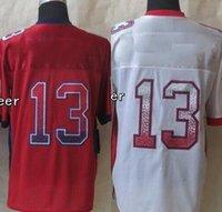 beckham team - 32 Teams Men s NeY Beckham jr Drift Fashion Red White Elite Jerseys Football Jerseys High Quality