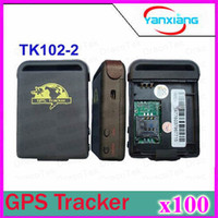 Wholesale 100pcs Realtime GSM GPRS GPS Tracker TK102 tracking works with free monitor software with Batteries DHL Free Ship ZY DH