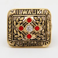aaron jewelry - High quality sporty fans jewelry Milwaukee Braves Hank Aaron World Series Championship Rings Gold Plated ring For Men S