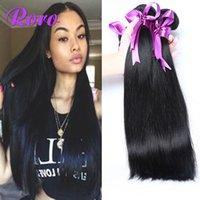 Wholesale 4 Bundles Peruvian Brazilian Malaysian India Straight Hair Cheap Hair Bundles g Bundles Peruvian Straight Virgin Hair Wet and Wavy