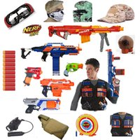 Wholesale Nerf cs Expert Soft Bullet Nerf Gun Tactical glasses goggles mask Cap Grenade Vest Target Tactical flashlight Infrared sight high quality