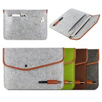Wholesale 2016 New Real Genuine Felt Sleeve Laptop Case Cover Bag for Ipad Air Air