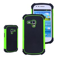 Cheap S5Q Hybrid Impact Case Matte Back Covers For Samsung Galaxy S3 S III Mini I8190 AAADZM