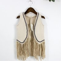 baby boy gilet - Girls Vests Fashion Baby Tassel Vest Cute Girls Gilet Y Childrens Clothes