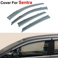 accessories nissan sentra - 4pcs Window Visor For Nissan Sentra Rain PC Rain Shield Stickers Covers Car Styling Accessories Awnings Shelters