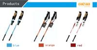 Wholesale Hot sale ultra light aluminum alloy mountaineering stick shock absorbing trekking poles Straight Grip Handle trekking poles