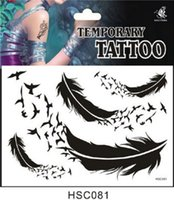 Wholesale 130 product A variety of design one time Tattoo Stickers Feather JIA035