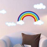 cartoon wall stickers - Rainbow cartoon wall stickers child real multi purpose child background flat wall stickers