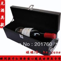 Wholesale Hot Wood wine box wine packing box Accessory Gift Set wood gift box Bar Sets