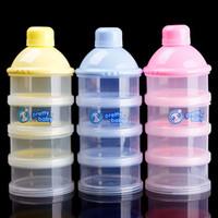 Nueva portátil infantil del bebé la alimentación con leche en polvo Alimentos Botella Contenedor de 4 celdas de la rejilla caja # 68633
