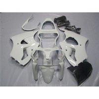 venda por atacado 2001 kawasaki zx6r fairings-Ano 2000 2001 2002 carenagem Kit Fit Kawasaki Ninja 00 01 02 ZX6R preto branco moda estilo completo conjunto moto personalizada Cowling carroçaria
