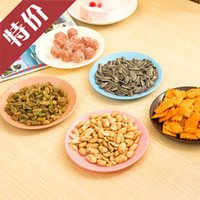 Wholesale A09 Colorful tableware saucer seeds snack dish flat food grade plastic snack dish