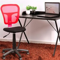 Wholesale US stock RED Black Ergonomically Office Task Computer Chair without arms with Mesh Fabric Pads
