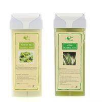 Wholesale Roll On Depilatory Wax Cartridge Heater Waxing Hair Removal Tools Aloe Green Tea
