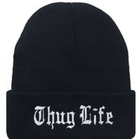 acrylic thickness - New Winter Beanies solid Color Hat Unisex Plain Warm Soft Beanie Skull Knit THUG LIFE cap Knitted thickness Touca Gorro Caps