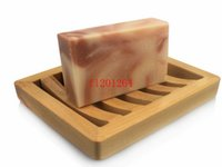 Wholesale Soap Box Dish Holder Wholesale - Fedex DHL Free Shipping New Arrival Natural wooden soap box Dish Handmade soap Shelf holder Wooden soap boxes