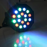 Wholesale Big Led stage light x3W W V High Power RGB Par Lighting With DMX Master Slave Led Flat DJ Auto Controller