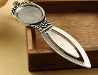 Wholesale DIY Vintage Style Antiqued Silver Alloy Fit for mm Cameo Cosmetic Mirror Shaped Bookmark Accessories