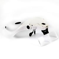 5 lentes LED Jefe luz de la lámpara de la linterna del faro Lupa Gafas Cabeza lupa de la lente Noche Leer Envío Gratis