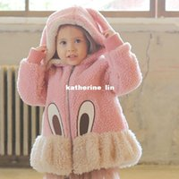 rabbit coat - Korean New children s wear girls cotton thickening polar fleece jacket rabbit cotton padded jacket new winter clothing