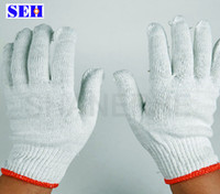 Wholesale 30pcs nylon white yarn gloves cotton gloves wear resistant protective working gloves