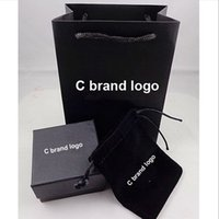 Wholesale 1sets high quality gift box for C earrings package packing for jewelry c jewellrey paper