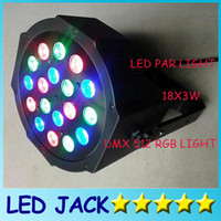 big light bulbs - DHL Big Led stage light x3W W V High Power RGB Par Lighting With DMX Master Slave Led Flat DJ Auto Controller