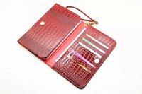 Universal de Croco Serpiente Cartera de cuero bolsa para 7 pulgadas Tablet Celular de tarjeta de crédito de dinero de bolsillo casesStrap Skin Cadena cubierta colorido de la manera