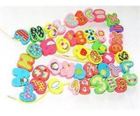 bead string interactive - Puzzle Toy Kid Number Letter Wooden Toy Stringing Beads Educational Development Toy New Fashion