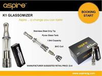 Cheap Wholesale - Newest Atomizer Aspire K 1 Clearomizer in Stock BVC Coil newest Aspire k 1 Atomizer 1.5ml for e cigarette