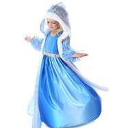 Wholesale Girls Christmas Frozen Dress Elsa Anna Autumn Princess Brand Children Costumes Party Dress With Hoodies Cape Kids Clothing Hot DHL