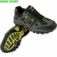 Wholesale men outdoor hiking athletic shoes waterproof hunting trekking outventure breathable leather climbing boots shoes senderismo bota