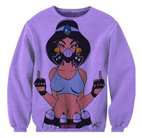 aladdin princess - Unisex Women Men D Cartoon Princess Jasmine Aladdin Print sweatshirt Sweats Outfit Sexy Crewneck Jumper Costume Pullover Tops