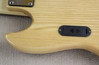ash mahogany - Chinese Musical instrument Factory Custom New Top Quality Natural Ash Wood Body jazz String bass Guitar active pickups